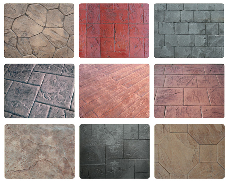 Примеры фактур декоративного бетона