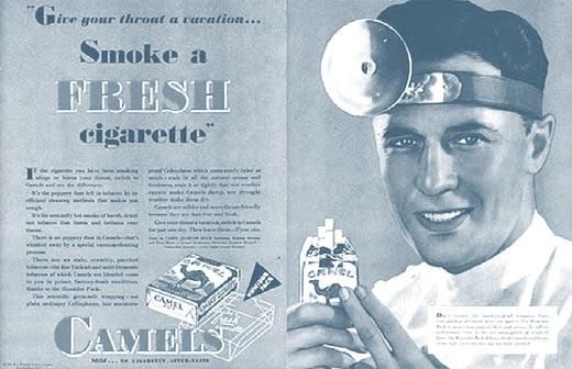 Реклама сигарет Camel