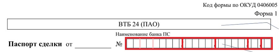 Расшифровка номера паспорта сделки
