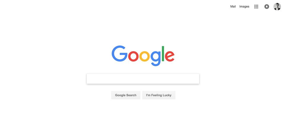 Дизайн сайта Google
