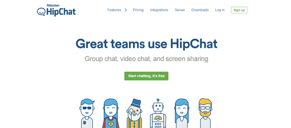 Дизайн сайта HipChat