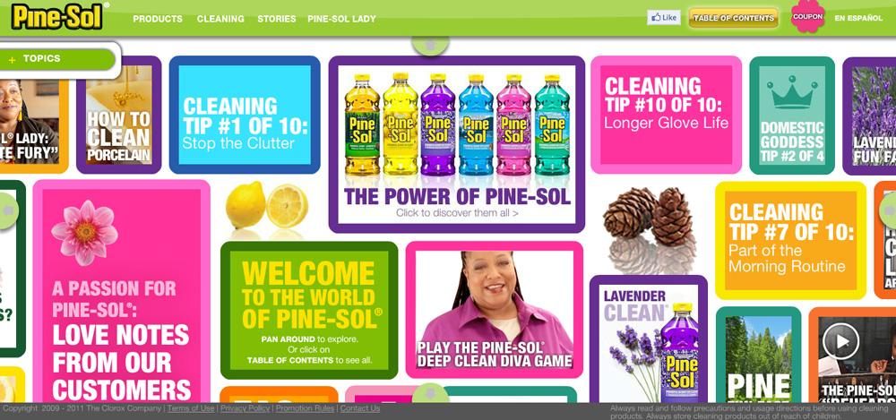 Дизайн сайта Pine-Sol