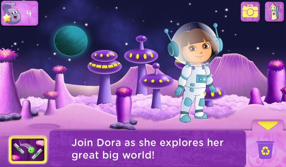 Фиолетовый цвет в дизайне приложения для детей