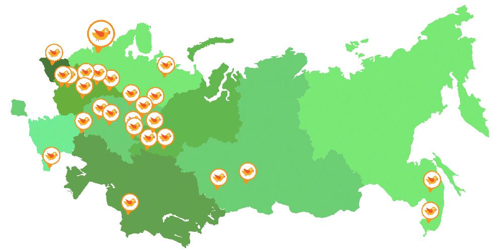 География детских языковых центров