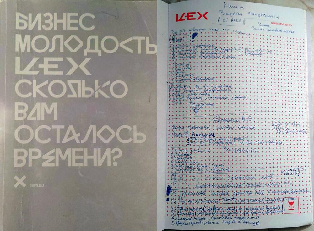 Записи в блокноте Бизнес-молодость Цех