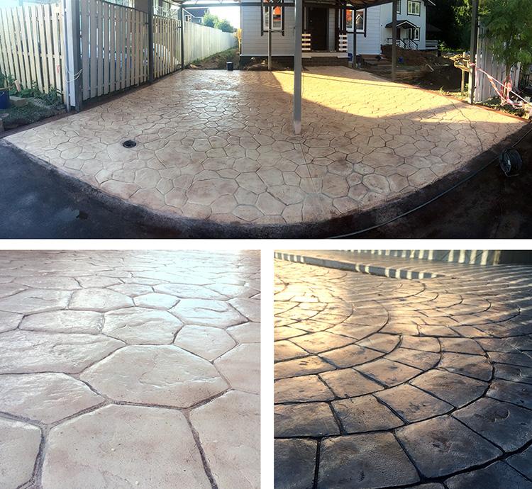 Примеры наших работ по декоративному бетону